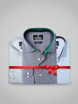 PACK OF 3 WHITE, SKY BLUE & GREEN FORMAL SHIRTS