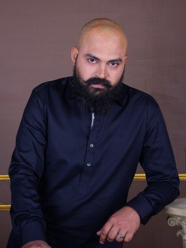kurta pajama in black