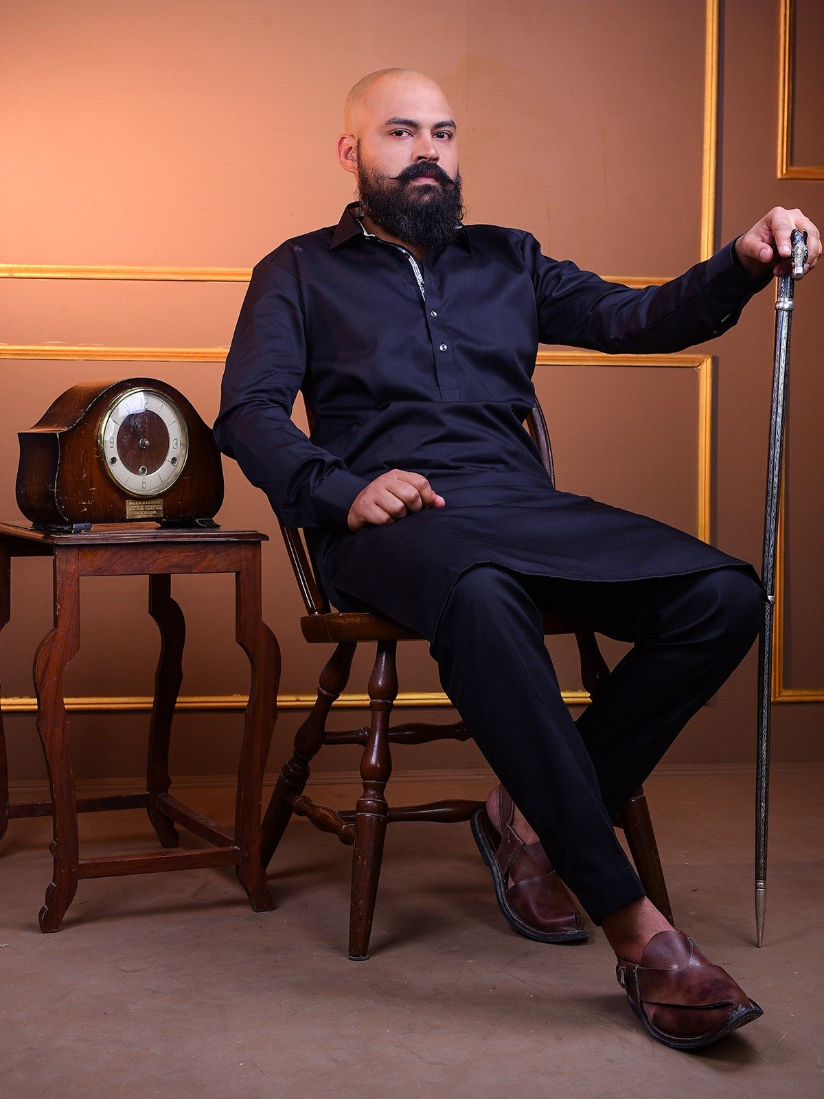 kurta-pajama-in-black-kp0006