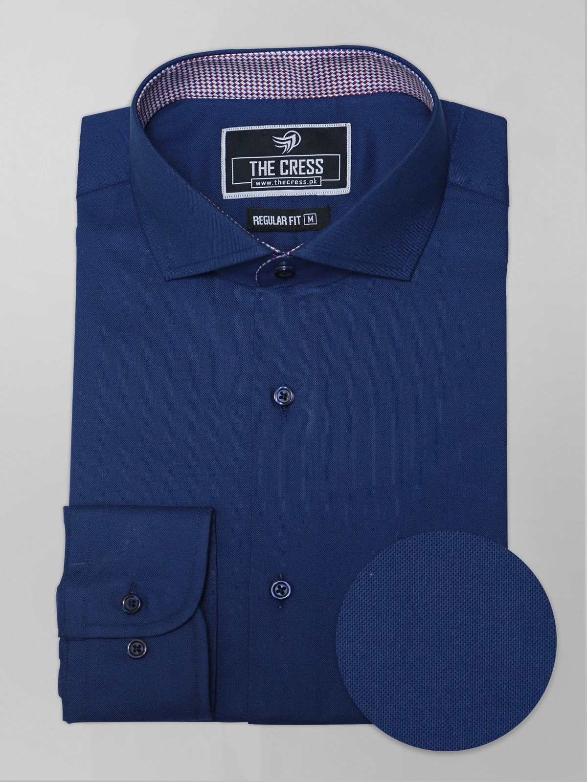 blue semi-formal shirt