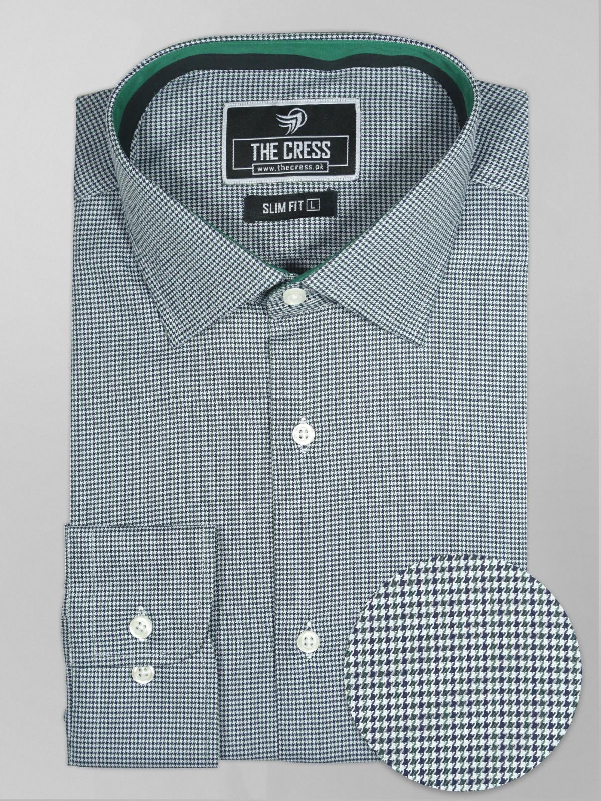 green-texture-dress-shirt