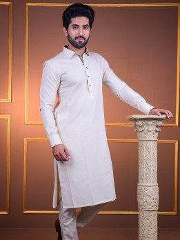 premium kurta pajama in fawn