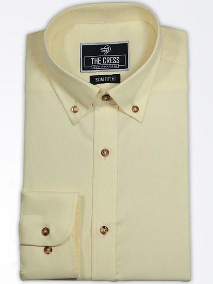 yellow-button-down-collar-formal-shirt