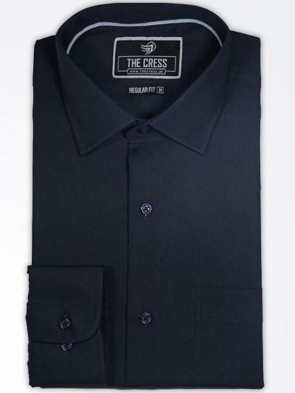black plain formal shirt