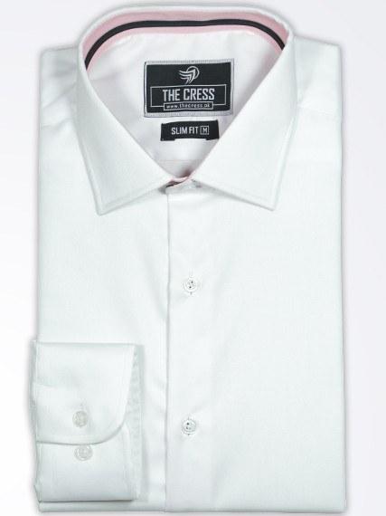 white-plain-semiformal-shirt