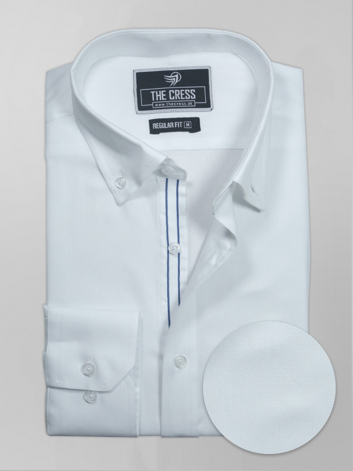 white formal shirt with button down collar